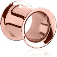 ROSE GOLD PVD COATED STAINLESS STEEL DOUBLE FLARED TUNNEL PIERCING