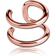 ROSE GOLD PVD COATED SURGICAL STEEL ILLUSION EAR CUFF