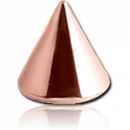ROSE GOLD PVD COATED SURGICAL STEEL MICRO CONE PIERCING