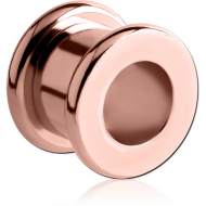 ROSE GOLD PVD COATED STAINLESS STEEL ROUND-EDGE THREADED TUNNEL