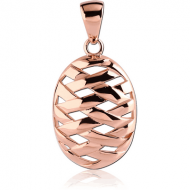 ROSE GOLD PVD COATED SURGICAL STEEL PENDANT