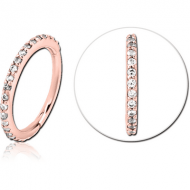 ROSE GOLD PVD COATED SURGICAL STEEL JEWELLED MULTI PURPOSE CLICKER PIERCING