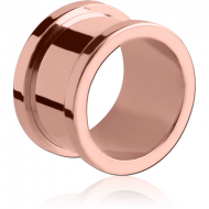 ROSE GOLD PVD COATED STAINLESS STEEL THREADED TUNNEL