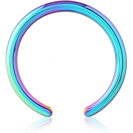 RAINBOW PVD COATED SURGICAL STEEL BALL CLOSURE RING PIN PIERCING