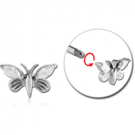SURGICAL STEEL ATTACHMENT FOR 1.6 MM THREADED PIN - BUTTERFLY PIERCING