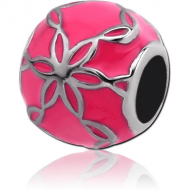 SURGICAL STEEL BEAD 5.0 - 5.2 MM HOLE - FLOWER