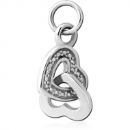 SURGICAL STEEL CHARM - ENTANGLED HEARTS