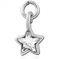 SURGICAL STEEL JEWELLED CHARM - STAR