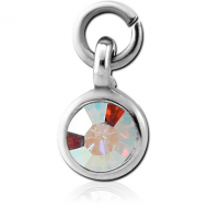 SURGICAL STEEL JEWELLED CHARM - CIRCLE