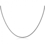 STAINLESS STEEL BALL CHAIN 40CMS WIDTH*2MM