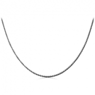 STAINLESS STEEL CABLE NECK CHAIN 45CMS WIDTH*1.6MM