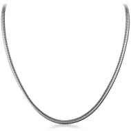 SURGICAL STEEL UNSEAMED SNAKE CHAIN