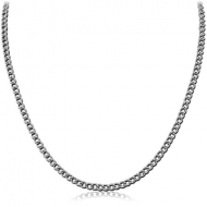 STAINLESS STEEL CURB NECK CHAIN 45CMS