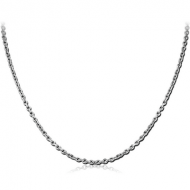 STAINLESS STEEL BEVEL CUT CABLE NECK CHAIN 45CMS