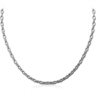 STAINLESS STEEL OVAL ROLLO NECK CHAIN 45CMS*2.6MM