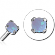 SURGICAL STEEL SYNTHETIC OPAL JEWELED ATTACHMENT FOR BIOFLEX INTERNAL LABRET PIERCING