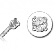 SURGICAL STEEL JEWELLED PUSH FIT ATTACHMENT FOR BIOFLEX INTERNAL LABRET PIERCING