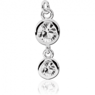 SURGICAL STEEL JEWELLED ATTACHMENT FOR INTIMATE PIERCING - 3MM AND 5MM ROUND PIERCING