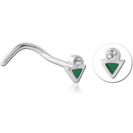 SURGICAL STEEL JEWELLED NOSE STUDS PIERCING