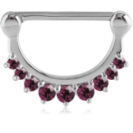 SURGICAL STEEL JEWELLED NIPPLE CLICKER PIERCING