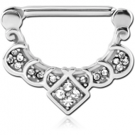 SURGICAL STEEL JEWELLED NIPPLE CLICKER - FILIGREE PIERCING