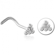SURGICAL STEEL CURVED NOSE STUD PIERCING