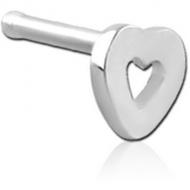 SURGICAL STEEL HEART NOSE BONE PIERCING