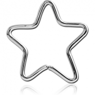 SURGICAL STEEL OPEN STAR SEAMLESS RING PIERCING