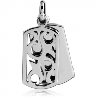 SURGICAL STEEL PENDANT - TWO DISKS WITH FILIGREE