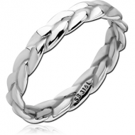 SURGICAL STEEL RING - TWITST ROPE