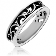 SURGICAL STEEL OXIDIZED RING