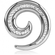 SURGICAL STEEL CRYSTALINE JEWELLED EAR SPIRAL