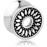 SURGICAL STEEL DOUBLE FLARED TUNNEL - SUNFLOWER PIERCING