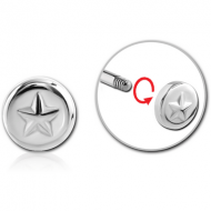 SURGICAL STEEL DISC THREADED ATTACHMENT-STAR PIERCING