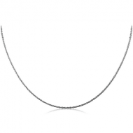 STERLING SILVER 925 CABLE NECK CHAIN 45CMS WIDTH*1.15MM