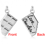 STERLING SILVER 925 CHARM - CHOCOLATE BAR