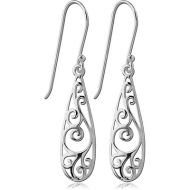STERLING SILVER 925 EARRINGS PAIR - FILIGREE
