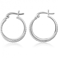 STERLING SILVER 925 HOOP EARRINGS