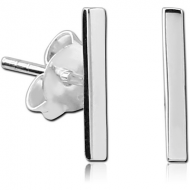 STERLING SILVER 925 EAR STUDS PAIR - 3D SQUARE