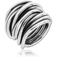 STERLING SILVER 925 RING - TWINED LINES