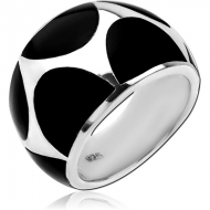 STERLING SILVER 925 RING WITH ONYX - RECTANGLES