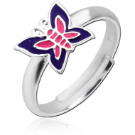 STERLING SILVER 925 RING WITH ENAMEL - BUTTERFLY