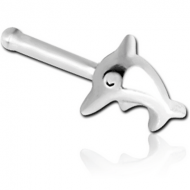 STERLING SILVER 925 DOLPHIN NOSE BONE