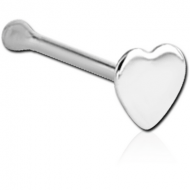 STERLING SILVER 925 HEART NOSE BONE