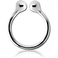 STERLING SILVER 925 ILLUSION RING PIERCING
