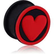 SILICONE RIDGED PLUG WITH 3D HEART