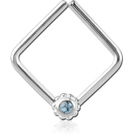 SURGICAL STEEL OPEN SQUARE SEAMLESS RING PIERCING