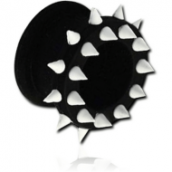 SILICONE DOUBLE FLARED SPIKEY TUNNEL PIERCING