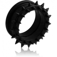 SILICONE DOUBLE FLARED SPIKEY TUNNEL