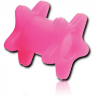 SILICONE DOUBLE STAR FLARED TUNNEL